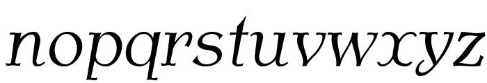 AntykwaTorunskaLight-Italic Font LOWERCASE