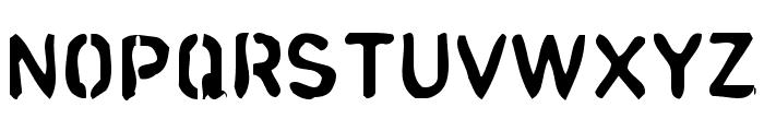 analog Font UPPERCASE