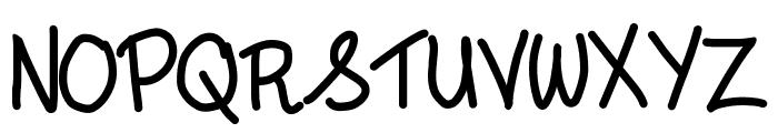 andyallshort Font UPPERCASE