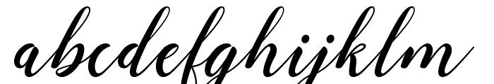 angeline bba key Font LOWERCASE