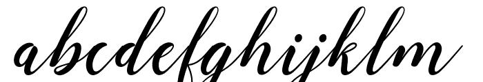 angeline-bbakey Font LOWERCASE