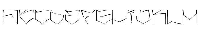 angrydubs Font LOWERCASE
