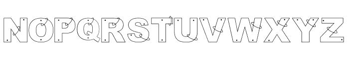 anillos Regular Font UPPERCASE