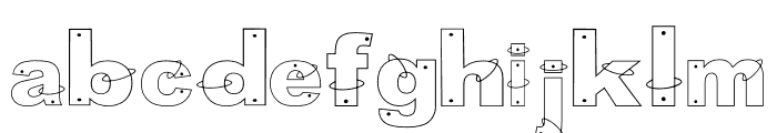 anillos Regular Font LOWERCASE