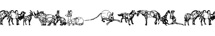 animaline Font UPPERCASE