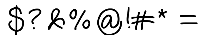annshandwriting Font OTHER CHARS