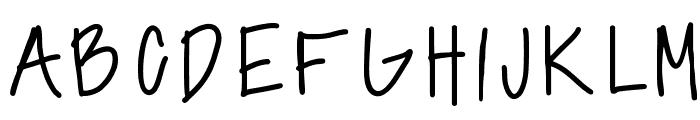 annshandwriting Font UPPERCASE