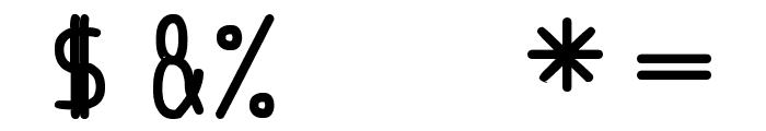 anome ibul bolder Font OTHER CHARS
