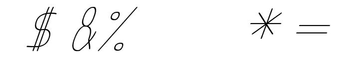 anome ibul cursive Font OTHER CHARS