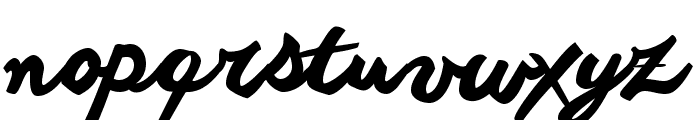 another shabby Font LOWERCASE