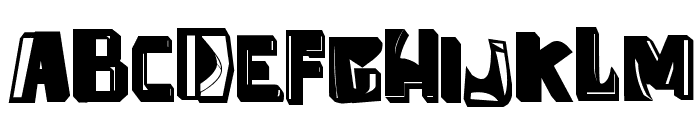 anti folk Font UPPERCASE