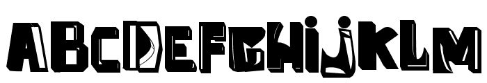 anti folk Font LOWERCASE