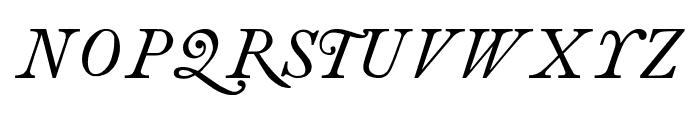 antique roman Italic Font UPPERCASE