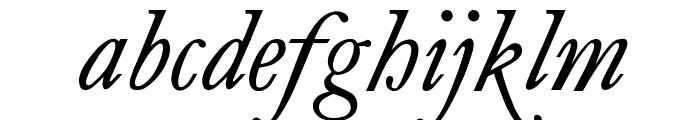 antique roman Italic Font LOWERCASE