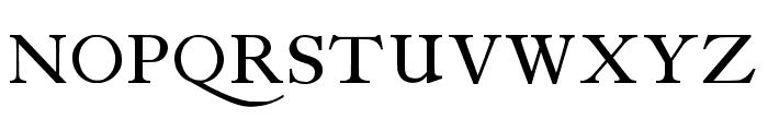 antique roman Font UPPERCASE