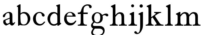 antique roman Font LOWERCASE