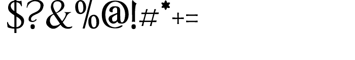 Anavio Regular Font OTHER CHARS