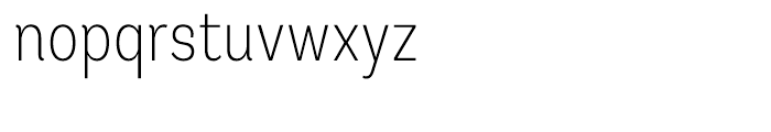 Andes Condensed ExtraLight Font LOWERCASE