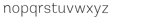 Andes Rounded ExtraLight Font LOWERCASE