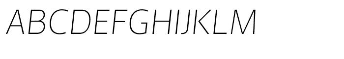 Andrew Samuels Thin Italic Font UPPERCASE