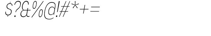 Angostura Extra Light Italic Font OTHER CHARS