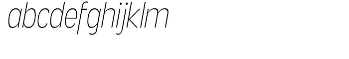 Angostura Extra Light Italic Font LOWERCASE