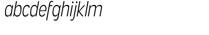 Angostura Light Italic Font LOWERCASE