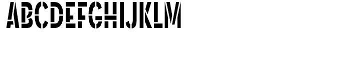 Angostura Stencil Font UPPERCASE
