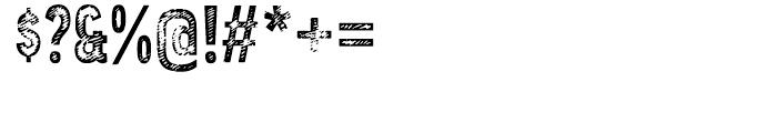 Angostura Wood Font OTHER CHARS