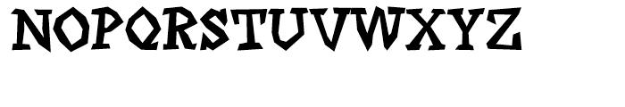 Angulatte Medium Font UPPERCASE
