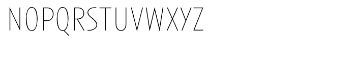 Anisette Thin Font LOWERCASE