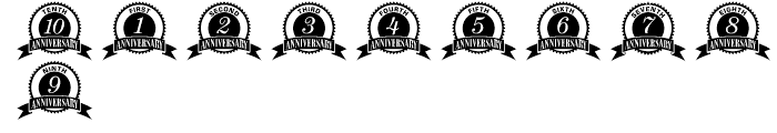 Anniversary Seals Regular Font OTHER CHARS