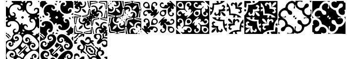 Anns Basketweave Nine Font UPPERCASE