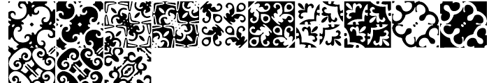 Anns Basketweave Nine Font LOWERCASE
