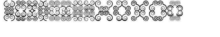 Anns Butterfly Scrolls Eight Font UPPERCASE