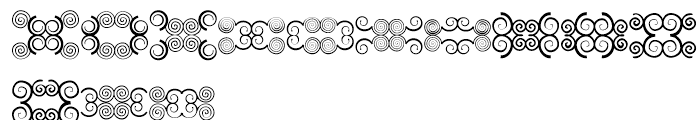 Anns Butterfly Scrolls Eight Font LOWERCASE
