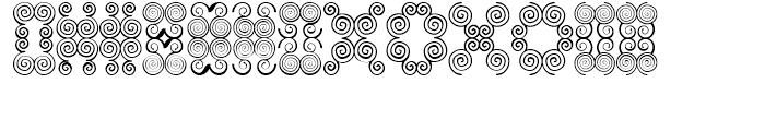 Anns Butterfly Scrolls Four Font UPPERCASE