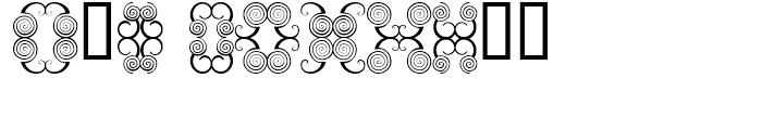 Anns Butterfly Scrolls Six Font OTHER CHARS