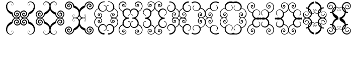 Anns Butterfly Scrolls Three Font UPPERCASE