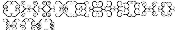 Anns Butterfly Scrolls Three Font LOWERCASE