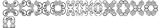 Anns Butterfly Scrolls Two Font UPPERCASE
