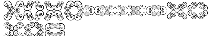 Anns Butterfly Scrolls Two Font LOWERCASE