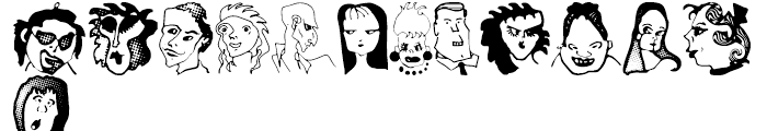 Anns Characters Regular Font UPPERCASE