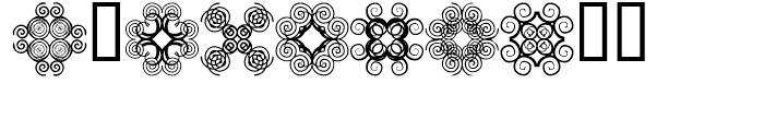 Anns Cross Scrolls Nine Font OTHER CHARS
