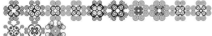 Anns Cross Scrolls Nine Font UPPERCASE
