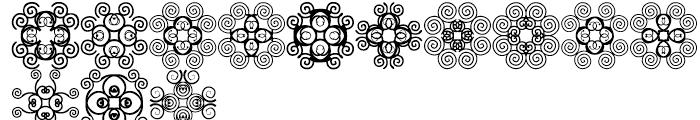 Anns Cross Scrolls Nine Font LOWERCASE