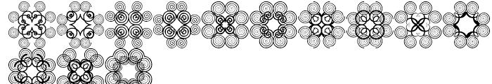Anns Cross Scrolls Seven Font UPPERCASE