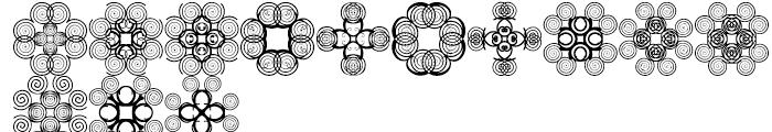 Anns Cross Scrolls Seven Font LOWERCASE