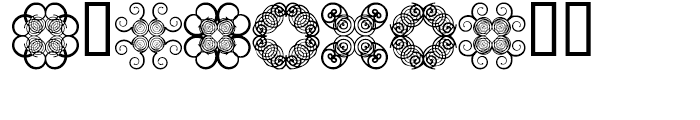 Anns Cross Scrolls Two Font OTHER CHARS
