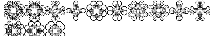 Anns Cross Scrolls Two Font LOWERCASE